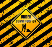 Under construction sign background concept Stock Image