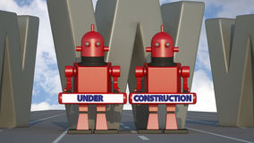Under construction sign 3d Stock Photography