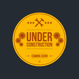Under construction sign, graphic design.  Stock Photography