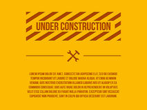 Under construction sign,  Royalty Free Stock Photography