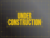 under construction sign illustration Stock Images