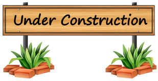 An under construction sign Stock Photos