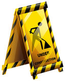 An under construction sign Royalty Free Stock Photo