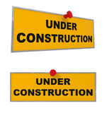 Under Construction sign isolated on white Stock Image