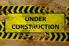 Under construction sign on paper Stock Images
