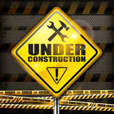 Under construction sign rhombus stock illustration