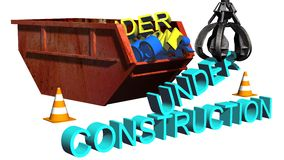 Under construction sign - separated on white background Stock Photography