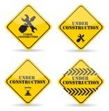 Under Construction Sign Set. Vector Illustration. Eps10 Stock Photo