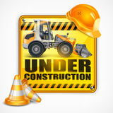 Under construction sign square royalty free illustration
