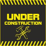 Under Construction sign. Symbol caution Royalty Free Stock Photo