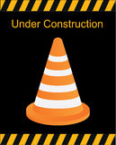 Under construction sign, traffic cones vector, traffic vector Stock Photography