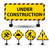 Under construction sign Royalty Free Stock Photos