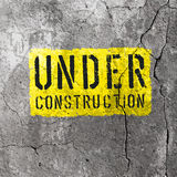 Under Construction Sign. Vector Royalty Free Stock Photos