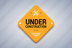Under construction sign. Stock Image