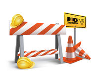 Under Construction Sign in White Backgroun Royalty Free Stock Photography