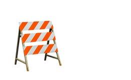 Under construction sign on white background Stock Photo