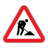 Under construction sign on white background drawing by illustration. Under construction sign.Under construction sign on white background drawing by illustration royalty free illustration
