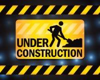 Under Construction. A sign for under construction work background stock illustration