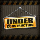 Under construction sign black Stock Photography