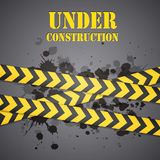 Under construction sign. Yellow under construction sign eps10 Stock Images