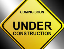 Under construction signal Royalty Free Stock Images