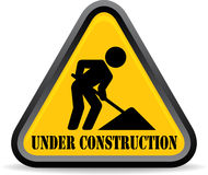 Under Construction signal Royalty Free Stock Photography