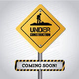 Under Construction Signal Stock Photography