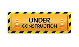 UNDER CONSTRUCTION. A signboard show the message of under construction Royalty Free Stock Photos