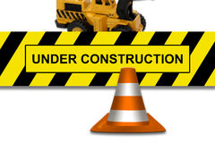 Under construction signboard Royalty Free Stock Image