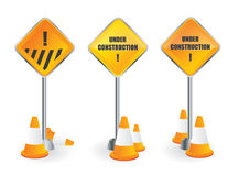 Under construction signpost Royalty Free Stock Photography