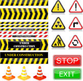 Under construction signs. Stock Photo
