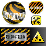 Under construction signs. Royalty Free Stock Photography