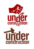 Under construction signs. Royalty Free Stock Photo