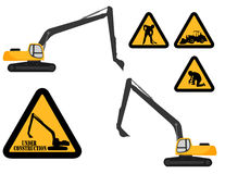Under construction signs Royalty Free Stock Image