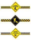 Under construction signs Stock Photos