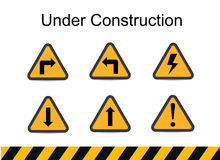 Under construction signs, traffic vector, under construction vector Royalty Free Stock Photography
