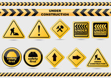 Under construction signs Royalty Free Stock Photography