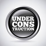 Under construction silver button isolated icon design Stock Images