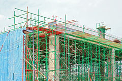 Under construction site. Of bridge Royalty Free Stock Photo