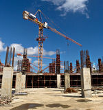Under Construction Site 3. Under construction site at Trianon in Mauritius Royalty Free Stock Photography