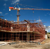 Under Construction Site 4. Under construction site at Trianon in Mauritius Royalty Free Stock Photography