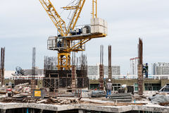Under construction site in the city. Thailand Royalty Free Stock Photo