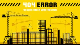 Under Construction site. 404 page. Vector template Royalty Free Stock Images