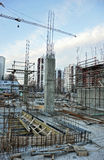Under Construction Site. Residential building Stock Image