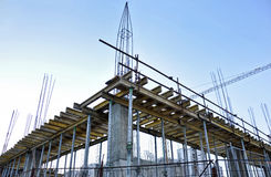 Under Construction Site. Residential building Stock Photos