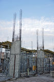 Under Construction Site. Residential building Royalty Free Stock Photo