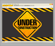 Under construction site template Royalty Free Stock Images