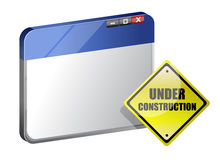 Under construction site template Stock Image