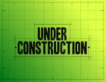 under construction sketch illustration Royalty Free Stock Image