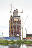 Under construction skyscraper Lakhta Center. Stock Photo